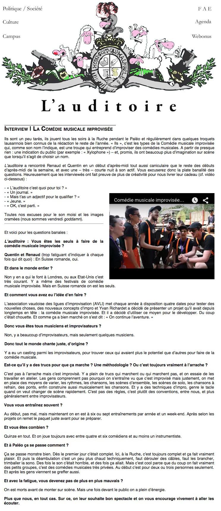Article L'auditoire juillet 2015 CMI_de_Rue